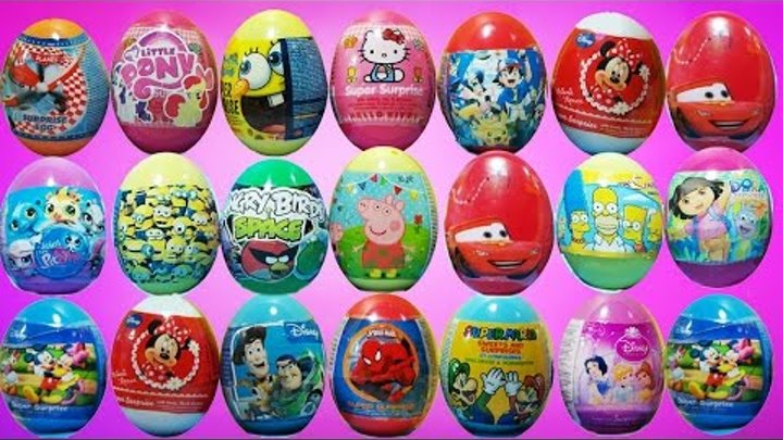 100 Surprise Eggs - Peppa Pig,Toy Story,Dora the explorer and more surprise eggs