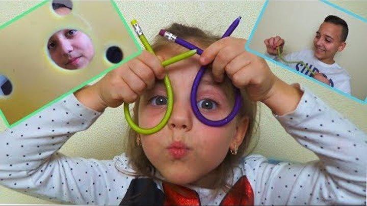 РОЗЫГРЫШИ для брата и сестры ПАПА в ВОСТОРГЕ от 3D игрушки Настю снимает СКРЫТАЯ КАМЕРА