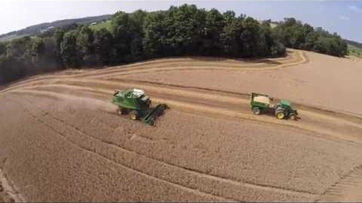 Wheat Harvest 2015 at Less & Less Farms near Greenford Ohio