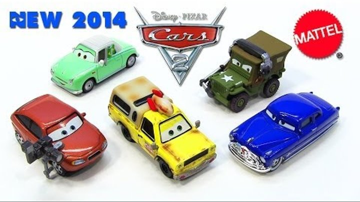 2014 Mattel Disney Cars Doc Hudson Denise Beam Cora Copper Todd the Pizza Planet Truck Sarge