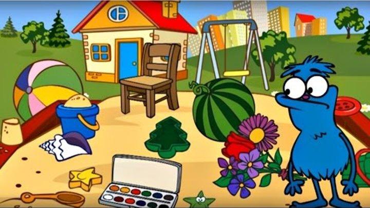 Dessin animé avec Choucha le baroudeur! Construction du CHÂTEAU de sable!Vidéo éducative