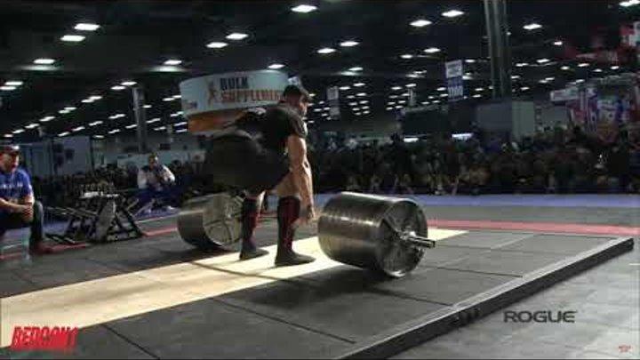 Михаил Шивляков тянет 441кг на Arnold Classic Strongman 2019