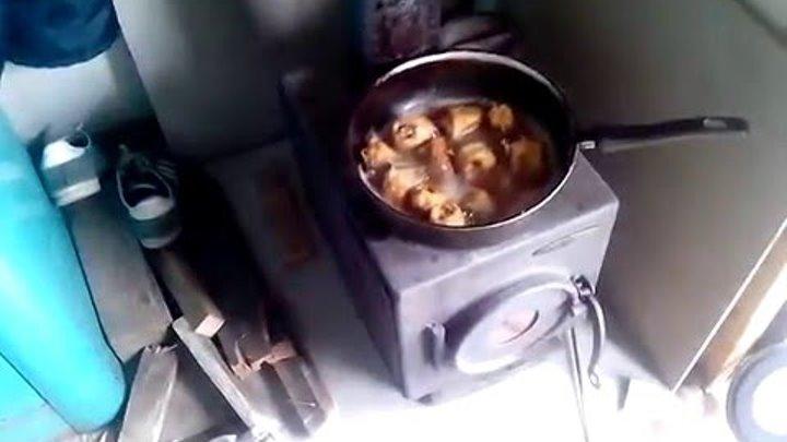Печь Золушка ( часть 1 ) - лучшая печь на 50 кубов (хозблок или пару комнат отопить на даче)