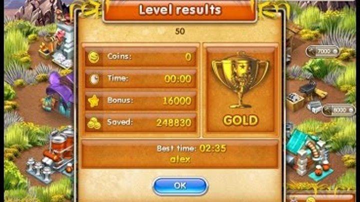Farm Frenzy 3 American Pie (level 50) only GOLD Веселая ферма 3 Американский пирог Уровень 50 Золото