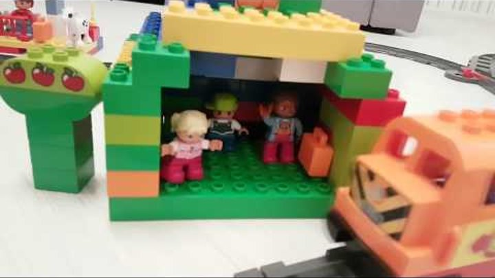 Лучшая железная дорога! Обзор и игры с Лего Поезд LEGO DUPLO