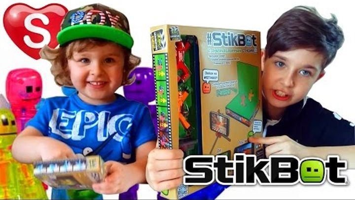 STIKBOT - Stop motion анимация у вас дома! СТИКБОТЫ Сделай мультик сам! #STIKBOT Саша СПб Sasha SPb