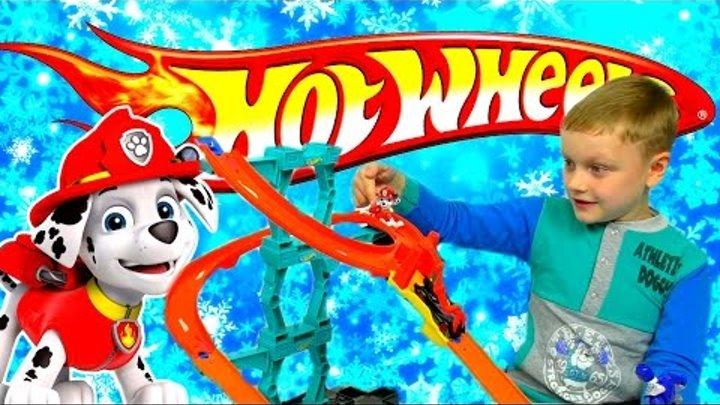 ЩЕНЯЧИЙ ПАТРУЛЬ Могучие Рейнджеры и ХОТ ВИЛС Hot Wheels Трек Детское видео про машинки