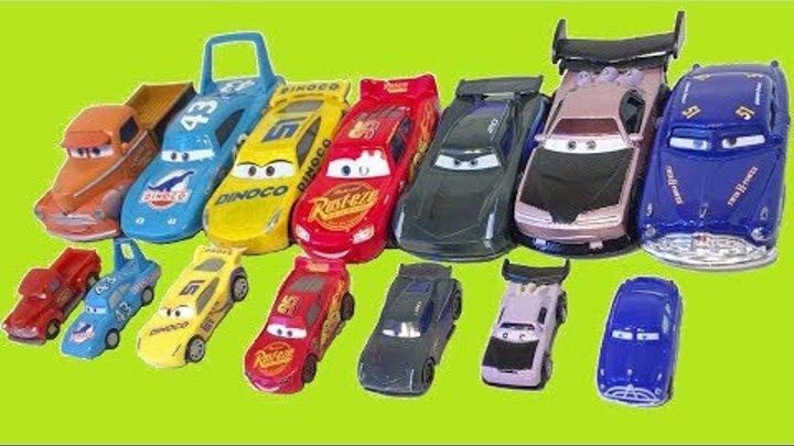 Тачки Много Машинок Большие и Маленькие Мультики про Машинки Игрушки Cars 3 Disney