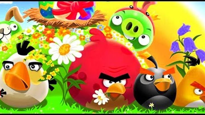 Энгри Бердс Марио Angry Birds Mario все серии подряд игр мультфильма Angry Birds ДочкиСыночки TV