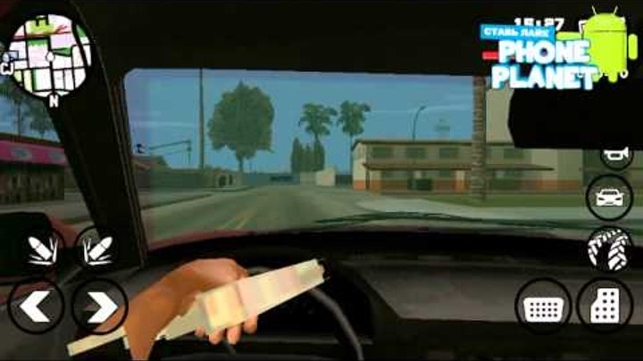 Моды для GTA: San Andreas ANDROID - Вид из кабины авто - Лучшие игры на андроид 2015 PHONE PLANET