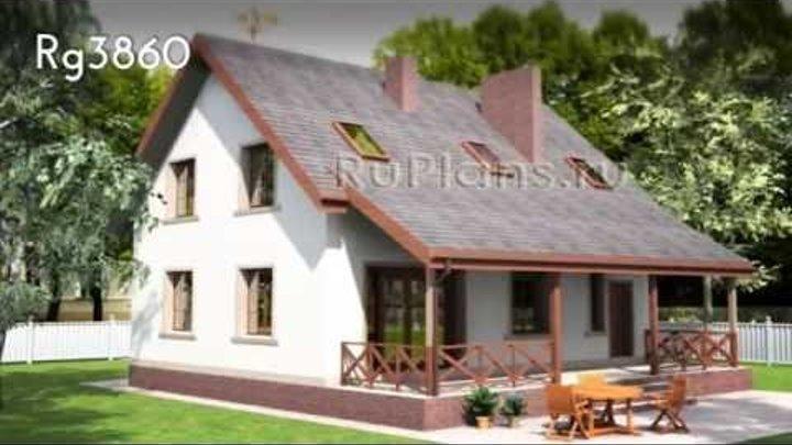 Проекты домов с мансардой RuPlans. Топ - 20