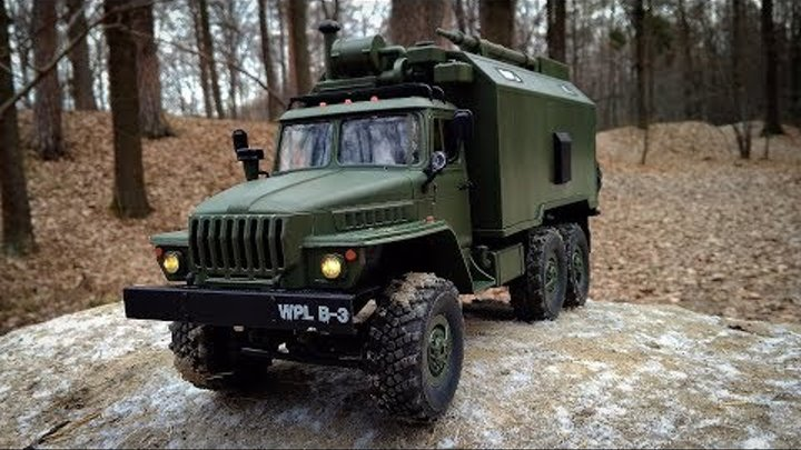 Грузовик WPL B36 Ural 1/16 2.4G 6WD Обзор Тест-Драйв