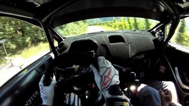 Ken Block's first tarmac test of the Ford Fiesta RS WRC with GoPro helmet cam HD