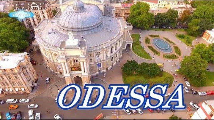 Odessa (Ukraine), city on the sea 2018 summer filming drone Ultra HD 4K