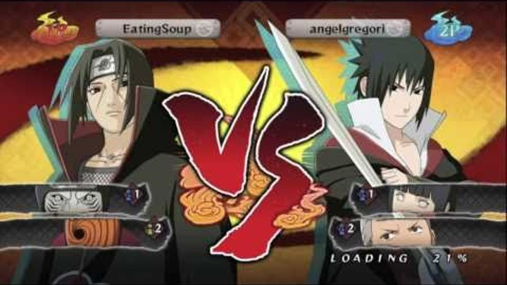 Naruto: Shippuden Ultimate Ninja Storm 2 - OBC - EatingSoup vs angelgregori - Rematch