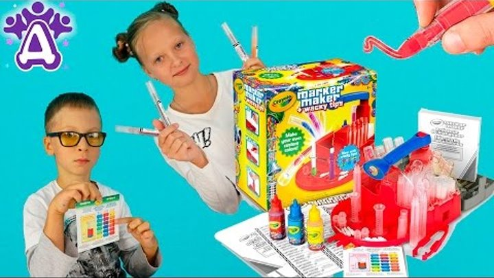 Фломастеры Для детей Делаем фломастеры Смешивание цветов Развивающие игры для детей.Новые серии 2016