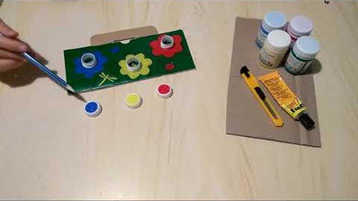 """Обзор развивающей игры """"Цветочная поляна"""". Для детей от 1 года. Делается легко и быстро"""