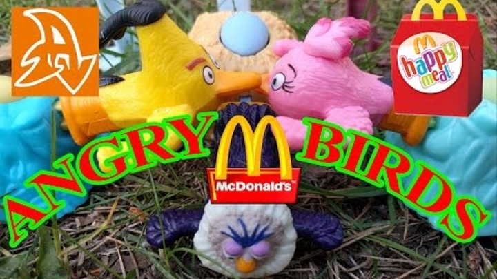 Хэппи Мил Энгри Бердс. Злые Птицы Май 2016. Happy Meal Angry Birds May 2016