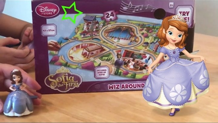 Принцесса София Прекрасная Маша - Музыкальный пазл - Sofia the first musical floor puzzle