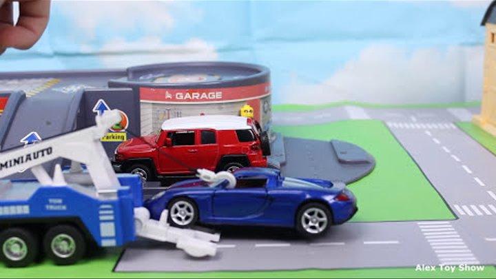 Мультик про машинки - 178 серия: Трактор, полицейская машина, гоночная машина, эвакуатор