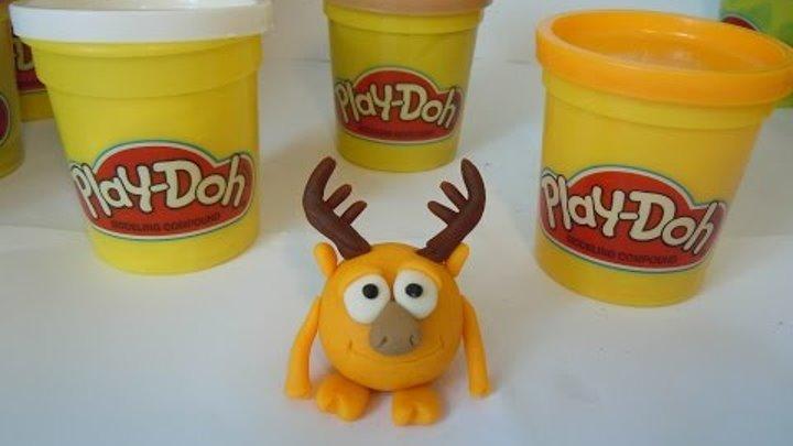 Лепим Смешарика Лосяша из пластилина Плей До. Kikoriki made of clay of Play Doh (smeshariki).