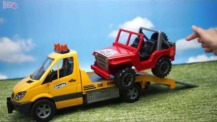 BRUDER Эвакуатор с джипом Wrecker Mercedes-Benz Игрушечные машинки Обзор игрушек MB Sprinter 2535