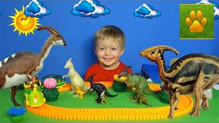 Детям про Динозавров Паразауролоф Поезд Динозавров Мультики Детское Видео про Динозавров