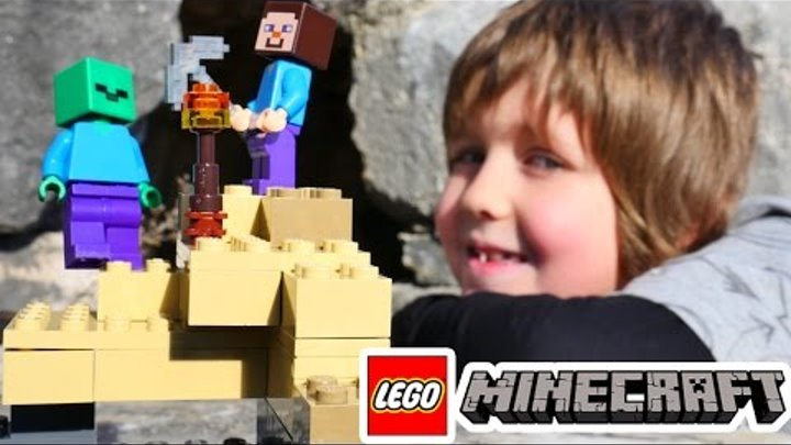 Лего Майнкрафт видео Адриана. Доставка ЛЕГО на развалины и спасение Стива