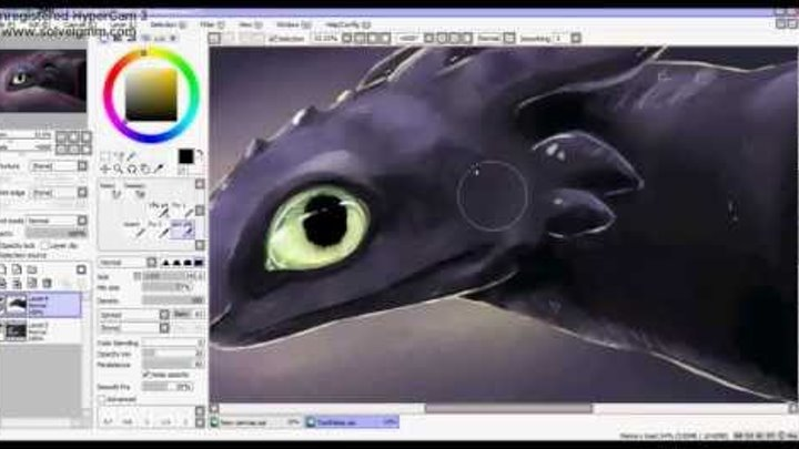 "Toothless (Dreamworks ""How To Train Your Dragon"") - Fan Art"