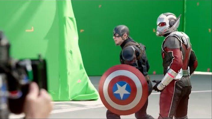 Съемки фильма Первый Мститель: Противостояние (Гражданская война)