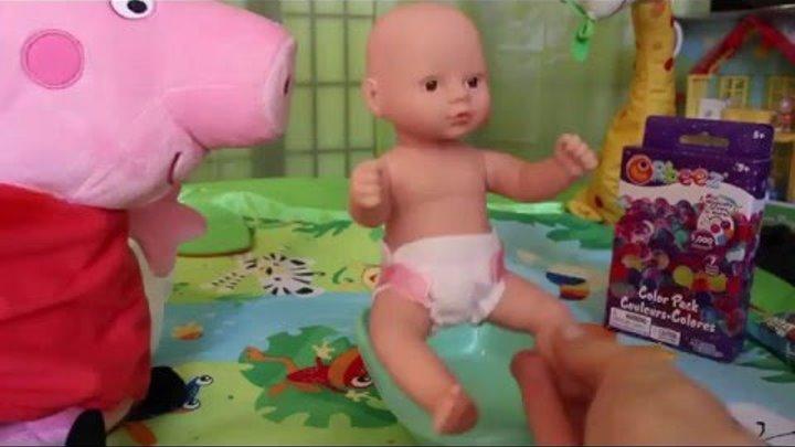 НОВЫЕ СЕРИИ СВИНКА ПЕППА, PEPPA PIG, Учим Английский, Купаем Baby в Орбиз, ORBEEZ, Дочки- Матери