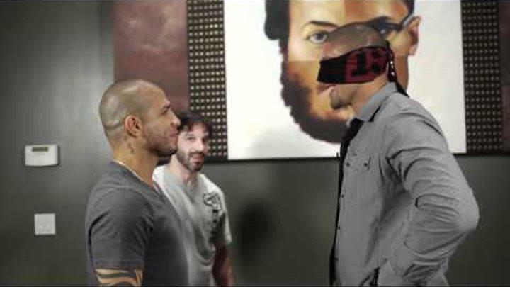 Ultimate Stare Down! Boxer Miguel Cotto vs MMA Fighter Brendan Schaub