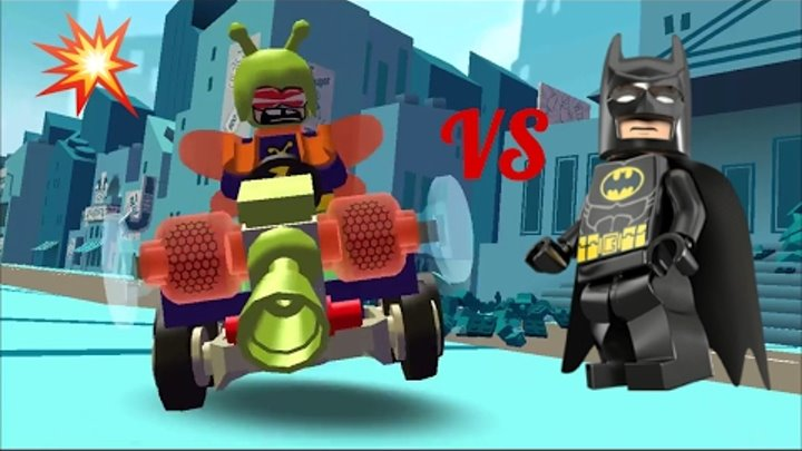 Лего Бэтмен vs Килер Моль THE Lego Batman Killer moth Super heroes игра мультик про машинки серия 1