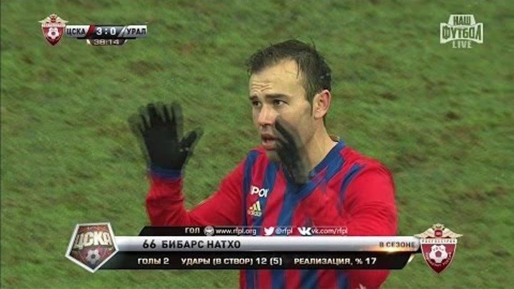 Футбол. РФПЛ. 17-й тур. ЦСКА - Урал 3:0 38' Бибарс Натхо (Пенальти)