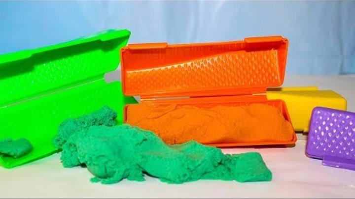 Сюрпризы для детей Песок Сквуши Игрушки Маша и медведь Мультики для малышей Учим цвета с игрушками