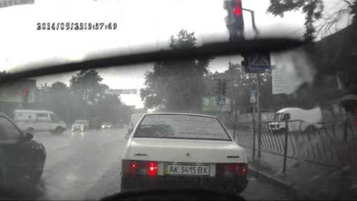 Гроза и град в Симферополе 23 05 14