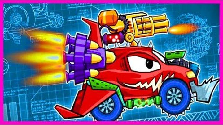 Мультик ИГРА для детей про МАШИНКИ МАШИНА ест МАШИНУ 1(3) Cartoon game for kids about cars
