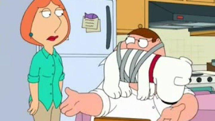 Гриффины. Усы - Питер привязал Брайана как усы. 6 сезон 8 серия / Family Guy Show