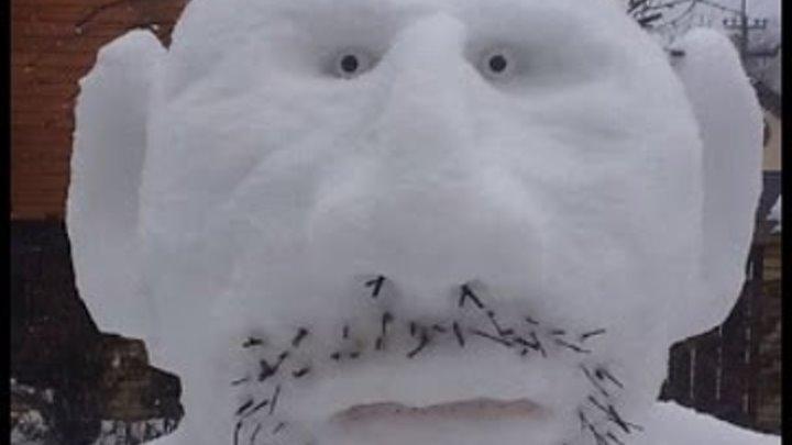 Снеговик cвоими Руками. Прикольные и необычные снеговики 2015 2016