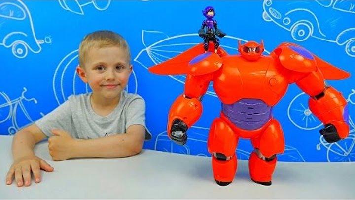 Робот БЭЙМАКС из мультика Город Героев и мальчик Хиро - Big Hero Baymax with Hiro Action figure