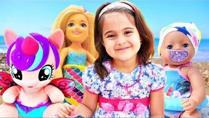 Беби Бон, Барби и Пони на море. Мультики для девочек