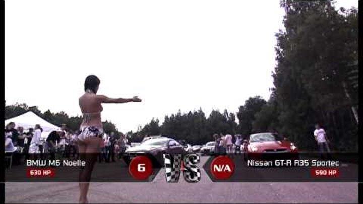 Moscow Unlim 500: BMW M6 5.8L vs Nissan GT-R
