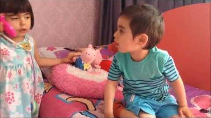 Свинка Пеппа и Джордж Пеппа заболела Играем в доктора Игрушка свинка
