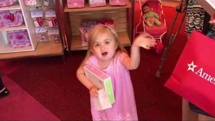 Audrey Nethery at the American Girl Doll Store!