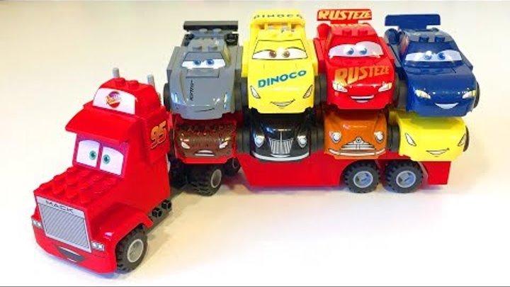 Тачки 3 Лего Мультики про Машинки Молния Маккуин Джексон Шторм Крус Рамирес Cars 3 Lego