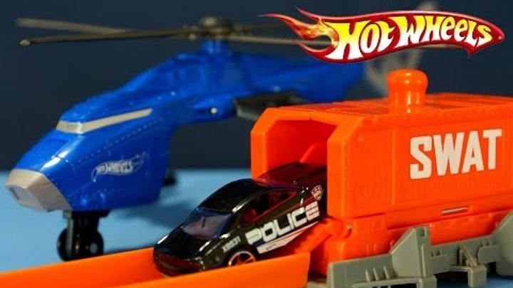 Hot Wheels SWAT Copter. Игрушки - Машинки и Вертолёт. Мультик Хот Вилс. Обзор на русском