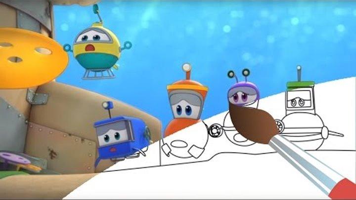 Мультик - раскраска - Марин и его друзья - Спасение кита развивающее видео для детей