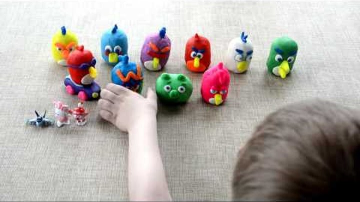 Энгри Бёрдс-ЗЛЫЕ ПТИЧКИ-Angry Birds сюрпризы распаковка с игрушками