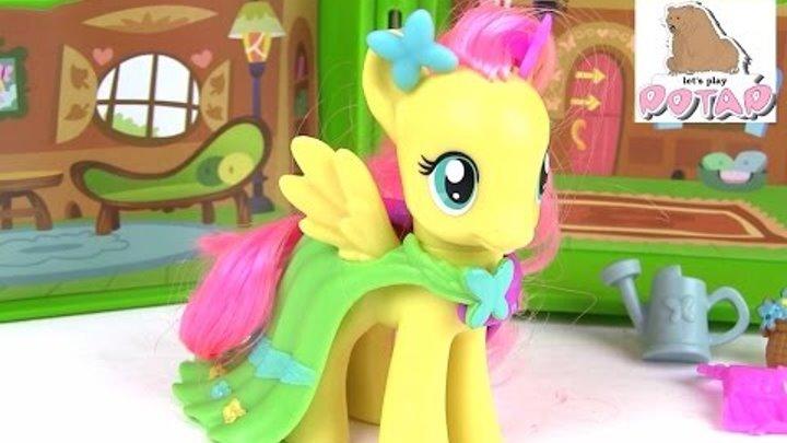 Май Литл Пони Игрушки Коттедж Флаттершай. Обзор. Распаковка. Пони Игрушки и Игры для Девоче