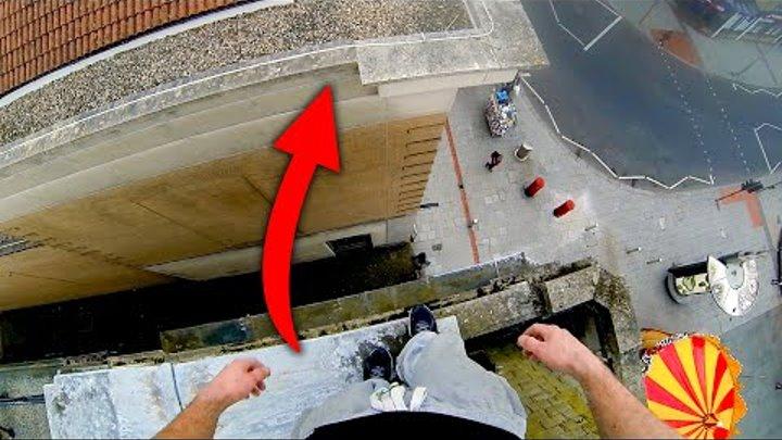 POV Parkour Rooftop Climb in Southampton | James Kingston: POV Adventures